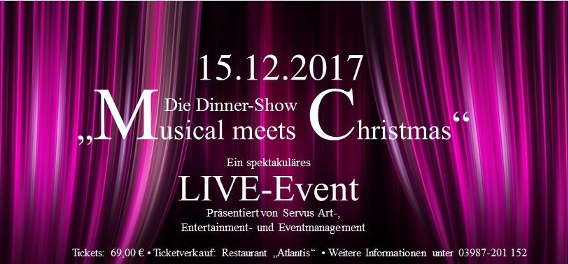 """Musical meets Christmas"" – Die Dinner-Show"